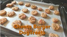 Cheese Burger Dog Treats| Dog Lovers Today
