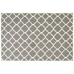 Check out this item at One Kings Lane! 6' Round Montauk Rug, Dove Gray/Ivory