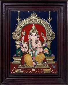 Tanjore Painting, Craft Work, Ganesha, Art Pieces, Arts And Crafts, Artwork, Gifts, Decor, Paper Craft Work