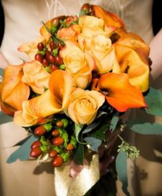 Fall Calla Lily Bouquet - Calla Lilly Weddings