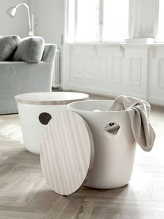 I picked this picture because i like the idea of having a place for storage that can also be used as an accessory. They could also be used as additional seating.