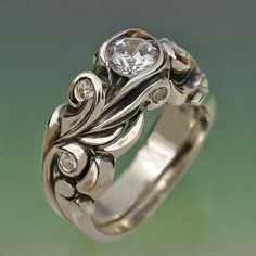 - love this ring setting, just my style.