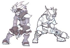 Dark Jak Concepts. I wish they'd kept the facial markings, they look so awesome!