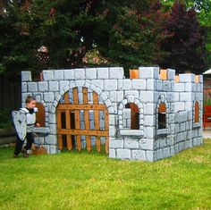 Magic Castle $4.95 Mr. McGroovy's Cardboard Castle Plans illustrate simple, easy techniques for building a cardboard castle playhouse using Mr. McGroovy's Box Rivets™ and your own large boxes.