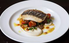 Carnarvon Pink Snapper, Celeriac Puree, Wilted Spinach, Tomato and Caper