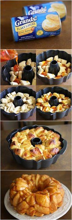 Honey-Apricot Monkey Bread Recipe