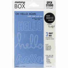 Memory Box Open Studio Die Oh Hello Again 30010