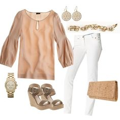 Paired with white skinny jeans