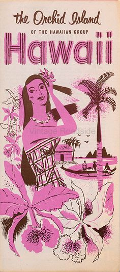 A 1950's brochure describing all of the activities and reasons you'd enjoy a visit to Hawaii in 1955.