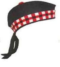 Vestido de escocês Glengarry chapéu escocês militar civil Highland - Toorie na parte superior