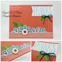 """Click here to see how to make four fun alternate cards using the August 2017 """"Giftable Greetings"""" Paper Pumpkin kit and to hear about the limited time 50% off new subscriber special... #stampyourartout - Stampin' Up!® - Stamp Your Art Out! www.stampyourartout.com"""