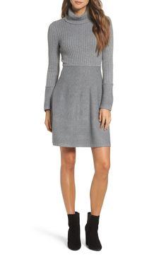 Grey Sweater Dress, Gray Dress, Slouchy Sweater, Sweater Dresses, Knit Dress, Long Sleeve Turtleneck, Turtleneck Dress, Grey Turtleneck, Nordstrom Dresses