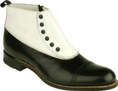 Stacy Adams Madison 00026 - Black/White Kid Leather - Free Shipping & Return Shipping - Shoebuy.com