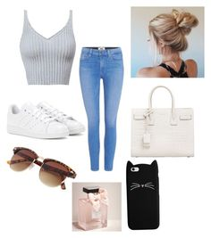 """✖️✖️"" by isabellmurillo on Polyvore featuring Paige Denim, adidas, Yves Saint Laurent and Abercrombie & Fitch"