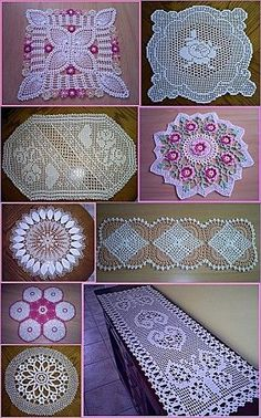 tons of oval doilies from french blog