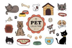 This exclusive freebie is a cute set of 5 vector pet elements. These pet animals illustrations are included in PSD and PNG format.  You can buy the full set of 21 Pet Elements Collection on Creative Market.