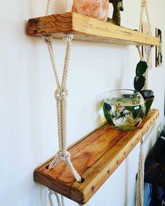 Custom made flying shelf / swing shelf / macrame by REMESTORECOM