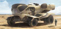 Armored Desert Vehicle, Jose Borges on ArtStation at https://www.artstation.com/artwork/armored-desert-vehicle