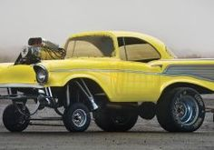 1957 CHEVROLET hot rod rods retro drag racing race gasser engine      f wallpaper