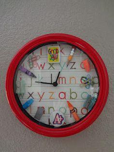The Busy Broad: DIY School Clock...Tick....Tock