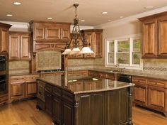 Enchanting Kitchen Backsplash Designs in various Colors: Classic Kitchen Interior Design With Kitchen Backsplash Designs In Artistic Decorat. Tuscan Kitchen Design, Luxury Kitchen Design, Home Design, Luxury Kitchens, Home Kitchens, Kitchen Designs, Design Ideas, Tuscan Kitchens, Colonial Kitchen