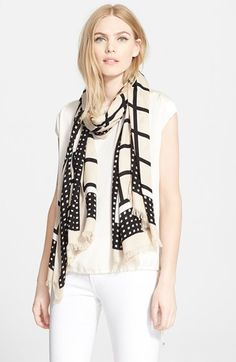 kate spade new york 'window panes' scarf available at #Nordstrom