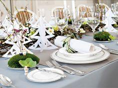 cuizine : De gedekte kersttafel, door Villeroy & Boch - Kersttafel met stijlvol gedecoreerd, wit servies