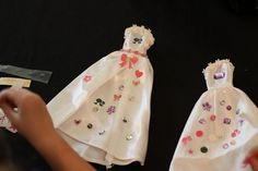 putting the bling on barbie dresses! great activity