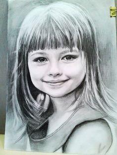 Портрет девочки карандашом.Автор Екатерина Бабанова