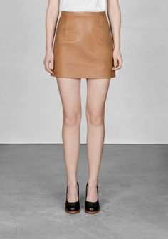 & Other stories Leather mini skirt
