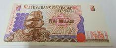 5 Dollars 1994-2001 Zimbabwe Banknote, 1997, KM:5a UNC(65-70) Banknote, Zimbabwe, Ebay, Art, Art Background, Kunst, Performing Arts, Art Education Resources, Artworks