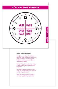 Is je kind visueel ingesteld en leert hij/zij sneller in beelden. Dan is de Beelddenkklok en handleiding 'In no time leren klokkijken' de oplossing. Kinderen die op school moeite hebben met klokkijken kunnen binnen een week leren klokkijken.