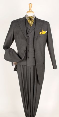 3 piece suits for men in wool, seersucker, and other fabrics to keep you looking fashionable. Shop 3 piece suits in great styles at affordable prices at CCO Menswear. Three Piece Suit For Man, Mens 3 Piece Suits, Big Men Fashion, Mens Fashion Suits, Men's Fashion, Dress Suits, Men Dress, Steve Harvey Suits, Suit And Tie
