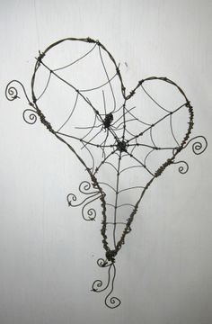 DIY Wire wrapped spider web. <3 by ruth