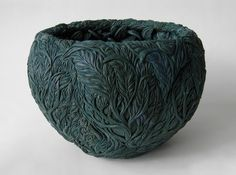 hitomi hosono ; a mangrove bowl', 2014 molded, carved and hand-built colored porcelain