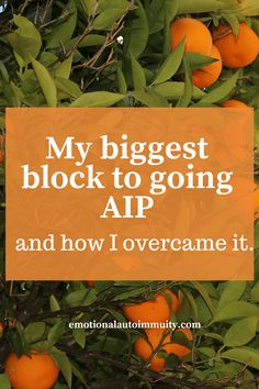 My biggest block to going AIP and how I overcame it.