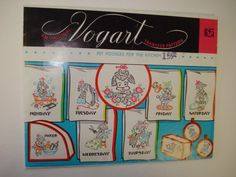 Vintage 1960s VOGART Pet Poodles for the Kitchen Iron On Embroidery Transfer Pattern #625 UNCUT by SweetLibertyStudio on Etsy