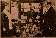 Still from the 1910 silent film Uncle Tom's Cabin.  The film is lost.