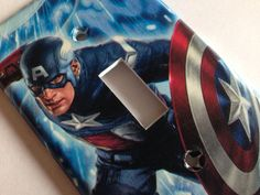 Captain America Light Switch Cover / Captain by COUTURELIGHTPLATES