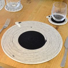Our beautifully handcrafted placemats will add a touch of elegance to your dinner party. Use the same style placemat for each place setting, or mix Cotton Rope, Place Settings, Coaster Set, Interior Inspiration, Different Colors, Modern Design, Home Appliances, Placemat, Marrakech