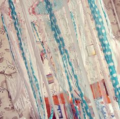 - Made To Order -   Boho nursery #decor, bed canopy in white, watermellow pink and mint green colors. With cute…