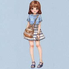 #dailylook #summerfashion #girl #longhair #style #skirt #blouse #illust #illustration #drawing #sketch #aeppol #데일리룩 #옷 #패션 #일러스트 #일러스트레이션 #애뽈