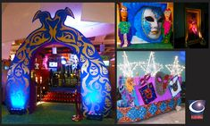 Brazilian Carnival theme event design, entertainment and decor by Sixth Star Entertainment. www.sixthstar.com