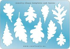 Jewelry Shape Template - Oak Leaves