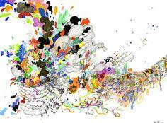 so colorful and vibrant somethin i really enjoyt Jen Stark, Origami, Lighthouse Art, 2d Art, Line Drawing, 3 D, Eye Candy, Doodles, Graphic Design