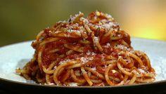 the chew | Recipe  | Mario Batali's Spaghetti All'Amatriciana