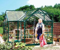 Eden Orangery Greenhouse in green for sale with toughened safety glazing. Buy online now at the best UK prices and free home UK home delivery.