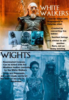 White Walkers and Wights differences