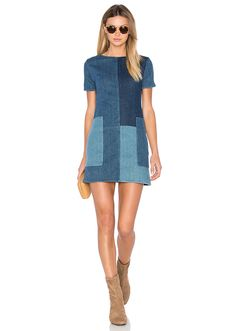 J Brand Luna Shift Dress en Rosemary Mix Mode Outfits, New Outfits, Fashion Outfits, Dress Fashion, Diy Clothes, Sewing Clothes, Moda Jeans, Jeans Dress, Denim Dresses