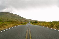 nature, landscape, plains, grasslands, grass, slope, mountains, sky, clouds, horizon, roads, paths, street, asphalt